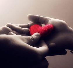 Любовь сердце в руке